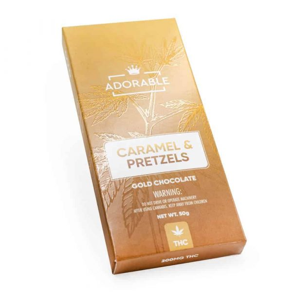 200mg THC infused Gold Chocolate – Adorable