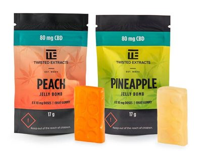 80mg CBD JELLY BOMBS – Twisted Extracts