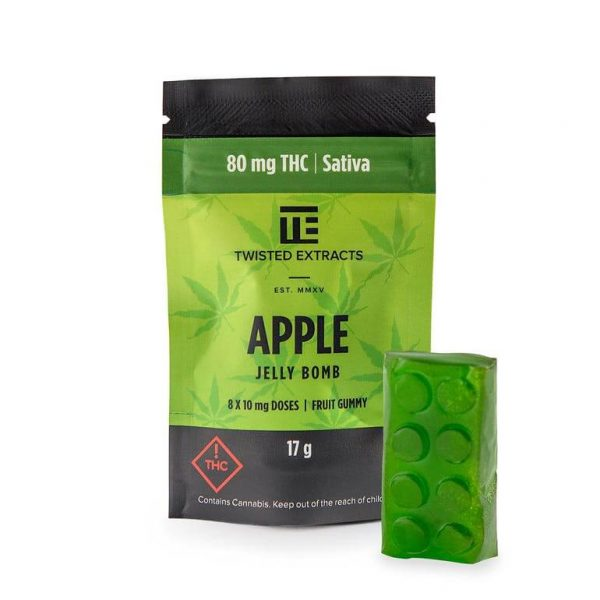 Apple SATIVA JELLY BOMBS – Twisted Extract
