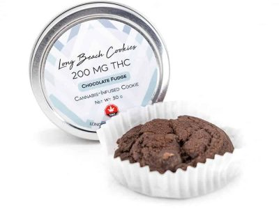 Long Beach Edibles – Chocolate Fudge Cookie – 200mg THC