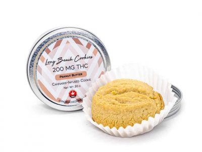 Long Beach Edibles -Peanut Butter Cookie – 200mg THC