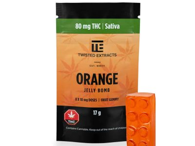 Orange SATIVA JELLY BOMBS – Twisted Extract
